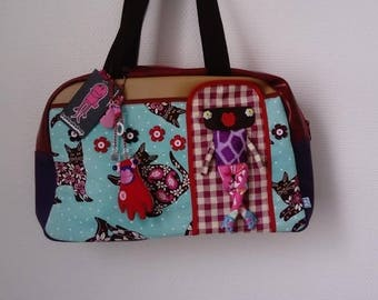 "Bag molly creative bag unique bag n61 ""The pink cat"""