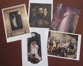 Gothic, Pre-Raphaelite, Medieval, Renaissance postcards
