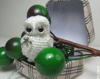 Miniature Crocheted 1.4 inc Snowy Owl