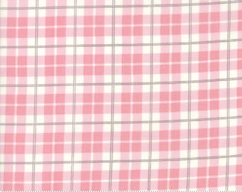Lily and Will Revisited by Bunny Hill for Moda  Posh Plaid in pink choose your cut  YES! Continuous fabric cuts, combined shipping