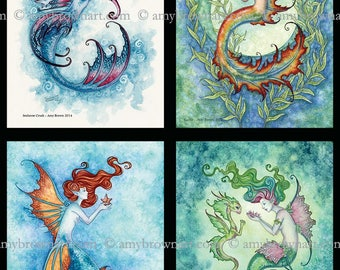 SPECIAL 5x7 Mermaid SET by Amy Brown