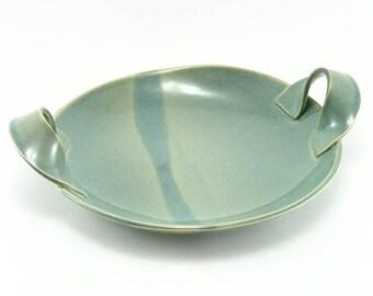 Ceramic Serving Bowl, Celadon Bowl, Stoneware Bowl, Serving Dish