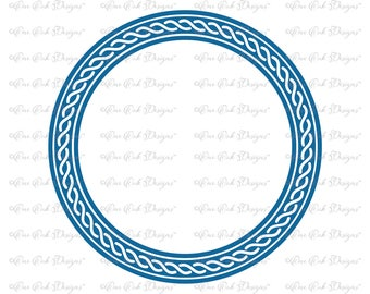 Rope Frame for Circle Monogram Font SVG File  svg dxf png pdf jpg for Cameo for Cricut & other electronic cutters