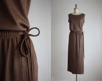 ash brown skirt set