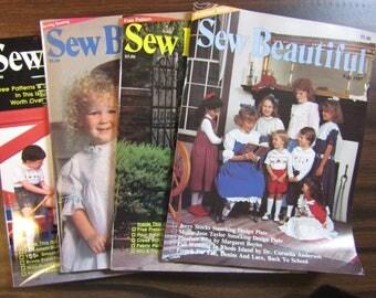 Sew Beautiful Magazine 1987 & 1989