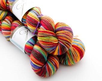 Twinkle Sock 'choco rainbow'
