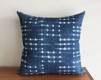 "Burmese Indigo, 18x18"" Pillow Cover"