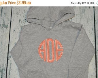 ON SALE YOUTH  Monogrammed Hooded Sweatshirt Personalized Monogrammed Pullover