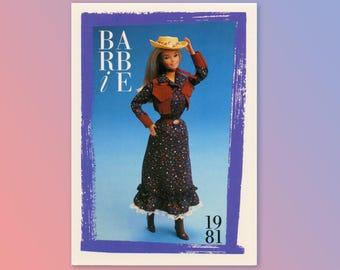 "Barbie Collectible Trading Card - ""Westward Ho!"" 1981 - Card No. 137 for Barbie collectors, dioramas, Barbie Cowgirl Texas Calico"
