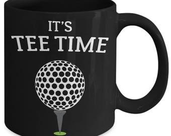 It's Tee Time Golf Sport Pun Coffee Mug
