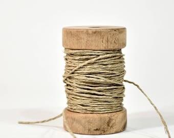 Wooden Spool of Hemp Cord * packaging * string * cord * twine
