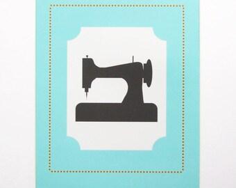 Vintage Sewing Machine 8 x 10 Printable File