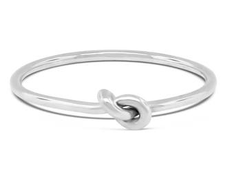 Petite stacking ring, forget me not purity ring, great gift for her
