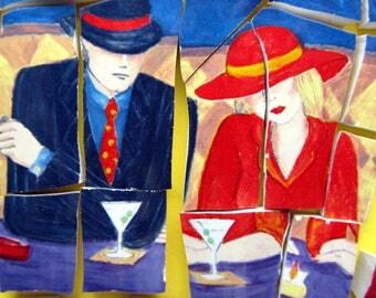Martini Love at Café Americana ~ Mosaic Tiles