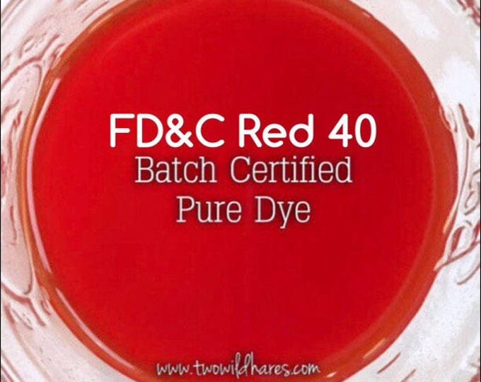 BLOOD ORANGE Batch Certified FD&C Red 40, 94% Pure Dye, Cosmetic Powdered Water Colorant, 1 oz