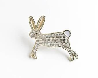 Bunny Lapel Pin, Bunny Enamel Pin, Enamel Bunny Brooch, Kids Bunny Jewelry, Bunny Lapel Brooch, Animal Pin