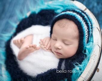 Basket Stuffer Newborn Photo Prop Blanket Baby Boy Fluff Texture Hand Knit Shag Girl Knitted Bowl Layer Sitter Mat Bucket Filler Photography
