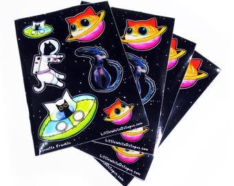 Kitties in Space Sticker Sheet