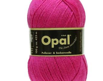 Opal Sock Yarn Uni Solid, 100g/465 yds, #5194 Pink