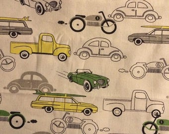 On Sale X-Large Sweet Bobbins Hanging Wet Bag - Retro Cars - 18x22 - SEAM SEALED - Boutique Quality
