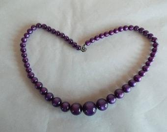 Vintage Purple Moonglow Choker Necklace //6