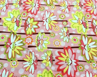 Lily Pond Floral Pink by Wendy Slotboom for In The Beginning Fabrics.  Cotton Fabric By The Yard