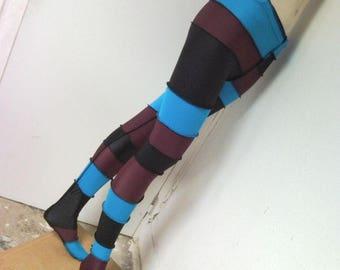 Stretch multicolor long underwear, tights