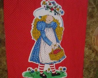 Holly Hobbie vintage baby quilt