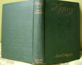 Kenny, Leona Dalrymple, Scarce Collectible Antique Book, 1917, Rare Vintage Novel, Green Hardback Clothbound
