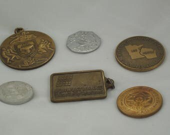 Destash! Coin Medal Medallion Lot of Six by ceeceedesigns on etsy