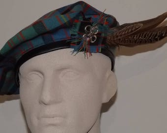Men's Tartan Tam, Cameron of Erracht Ancient Tartan Beret, Scottish Beret, Celtic Tam