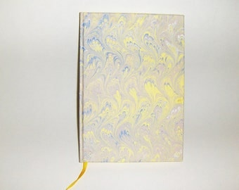 Marbled paper  white book . 88 sheets,  Hand bounded Florentine style -   cm 17 x cm 24  1025