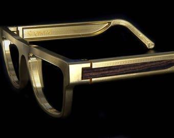 Kingsland Frame Gold With Hardwood Inlay