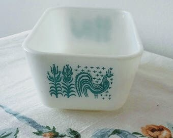 PYREX Butterprint Rectangle Refrigerator Dish, 502, NO LID, 1959-1968, Baking, Kitchenwares, Replacement