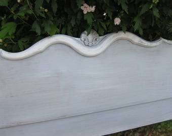 Headboard Full Size Bed Vintage French Provincial Poppy Cottage Painted Furniture Custom PAINT to ORDER