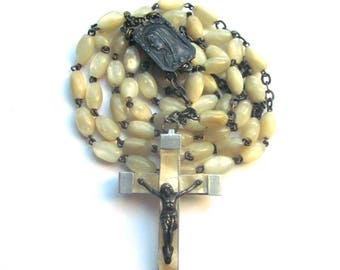Mother of Pearl Vintage Rosary Pearl Rosary