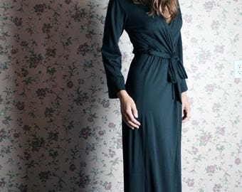 merino wool robe for women in full length - made to order - MERINO II