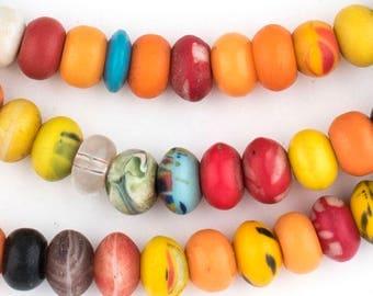 "100 Binta Banji Prosser Beads - ""Kakamba"" - African Glass Beads - Jewelry Making Supplies - Made in Unknown - Africa ** (BINTA-BANJI-999)"