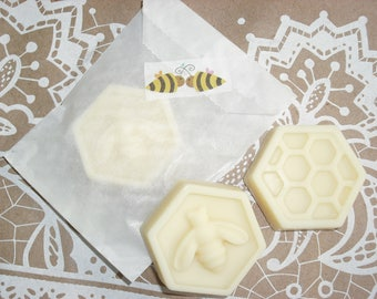 "Bee favors Honey Bee shower favors Solid Lotion Bar Favors Shea Butter Cocoa Butter Body Butter Bar  ""Your CHOICE of scent"""