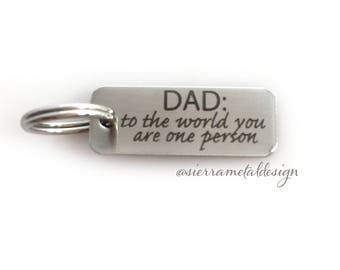 Double Sided Dad Keychain Dad You Are The World Best Dad Ever #1 Dad Fathers Day Dad Gift Daddys Girl Love From Daughter Best Dad Gift