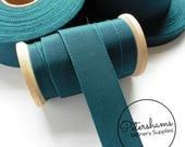 Teal Petersham Millinery Ribbon 3 Sizes (15mm No.3, 25mm No.5, 38mm No.9) - 1m