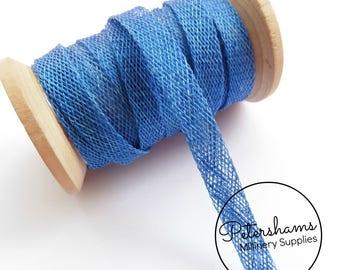1cm Sinamay Bias Binding Tape Strip (1.6m/1.7yards) for Millinery & Hat Making - Royal Blue