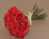 Small Red Rose Bouquet - Artificial Flowers, Silk Flowers