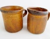 McCoy CANYON MESA LINE Mug & Creamer Brown Mottled Trim
