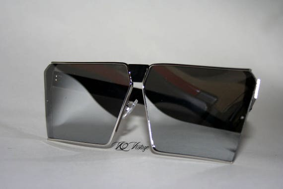 Silver Oversized Square Sunglasses