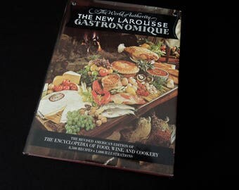 The New Larousse Gastronomique -  Food Wine Cookery - Old Recipe Cookbook - Wedding Housewarming Book Lover Foodie Gift
