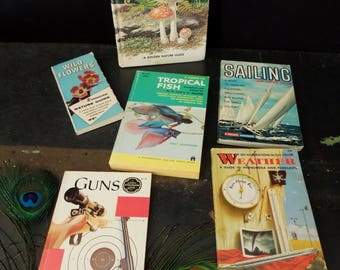 Identification Flowers/Fish/Guns/Sailing/Weather Vintage Book - Illustrations Guides Informational Pocket Book(s)