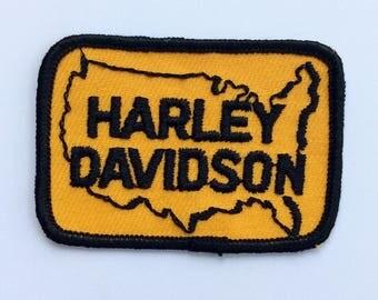 Vintage Harley Davidson United States Patch