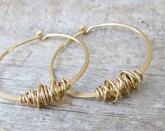 Custom Order For Sybille - 2 Pairs Of Large Gold Hoops