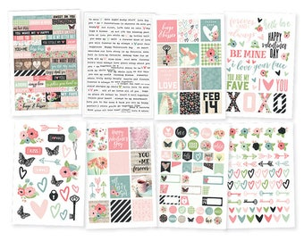 "Romance Stickers 4""X6"" 8/Pkg Simple Stories • Planner Stickers (9416)"